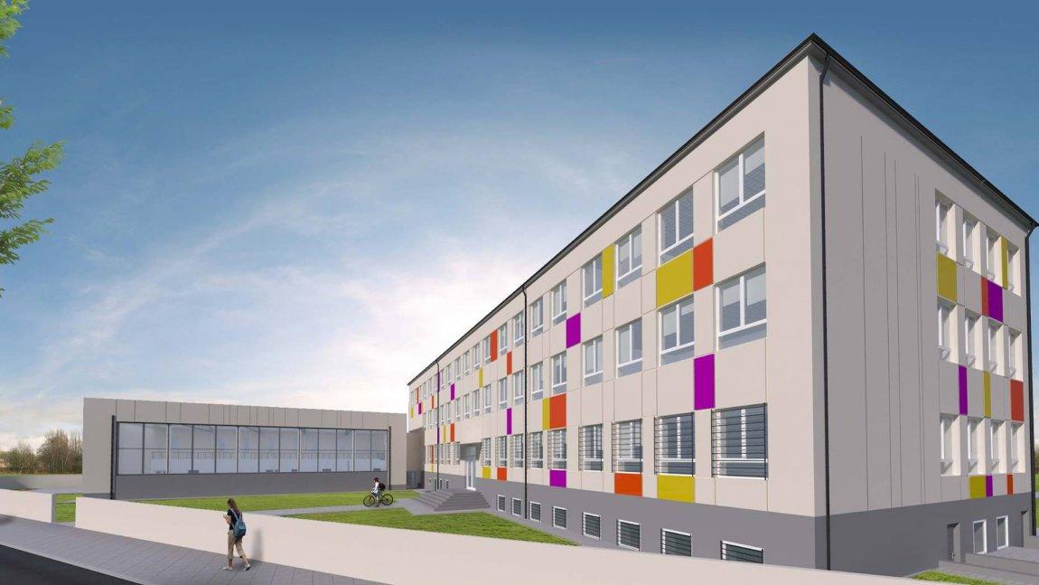 wizualizacja budynku szkoły