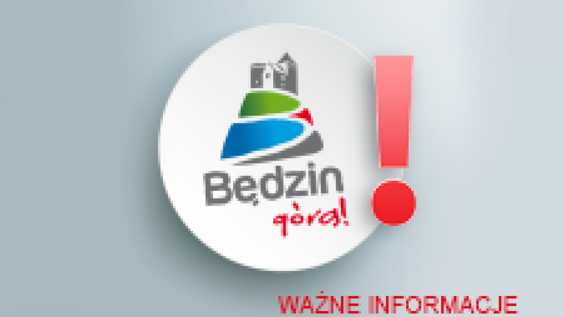 Logo Będzin górą Ważne informacje